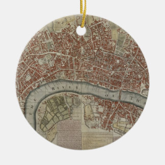 A New and Exact Plan of the Cities of London and W Round Ceramic Decoration
