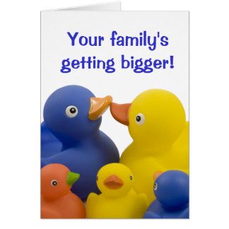 A new baby in the family -  Duck Family Group Greeting Card