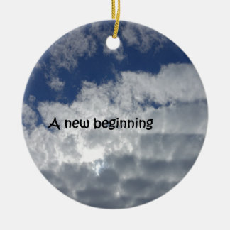 A new beginning christmas ornament