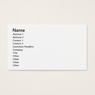 A New Coat (colour litho) Business Card