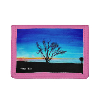"""A New Dawn"" design by Viktor Tilson Tri-fold Wallets"