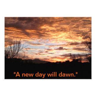 A new dawn will come personalized announcement