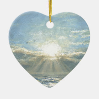 A New Day Ceramic Heart Decoration