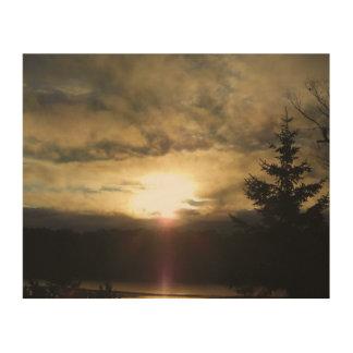 A New Day Sunrise Wood Print