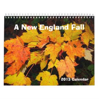 A New England Fall 2013 Calendar