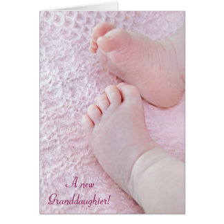 A New Granddaughter Greeting Card