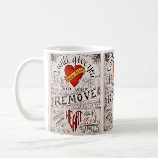 A NEW HEART Mug. Ezekiel 36:26 Coffee Mug