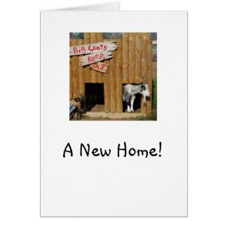 """A New Home"" House Warming Card Pygmy Goats"