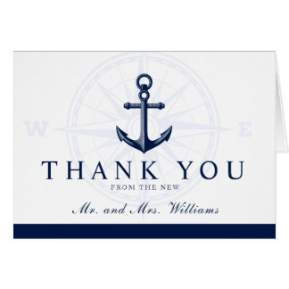 A New Journey Nautical Anchor Thank You Card