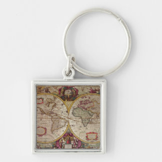 A New Land and Water Map of the Entire Earth Key Ring