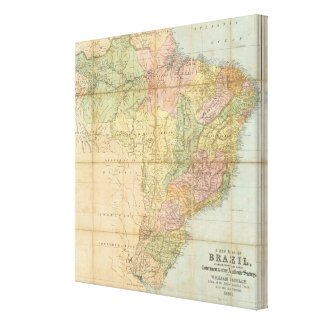 A new map of Brazil Canvas Print