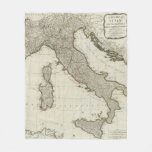 A new map of Italy with the islands of Sicily Fleece Blanket