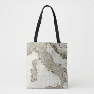 A new map of Italy with the islands of Sicily Tote Bag