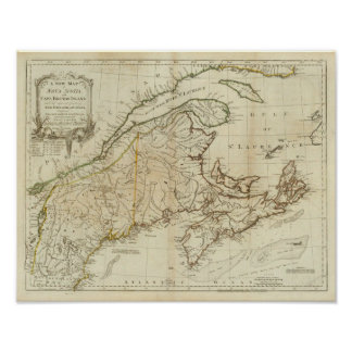 A New Map of Nova Scotia, and Cape Breton Island Poster