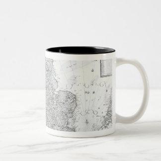 A New Map of the Kingdom of England Two-Tone Coffee Mug