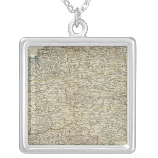 A new map of the Kingdom of Poland Silver Plated Necklace