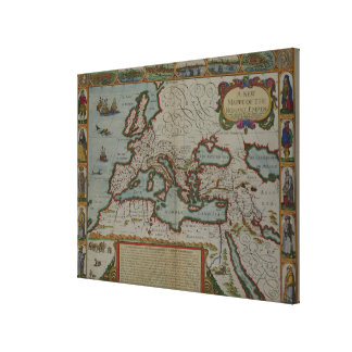 A New Map of the Roman Empire Canvas Print