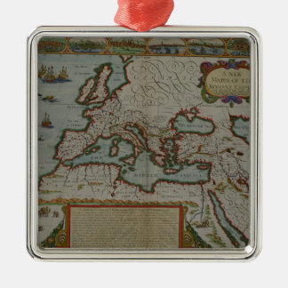 A New Map of the Roman Empire Christmas Ornament