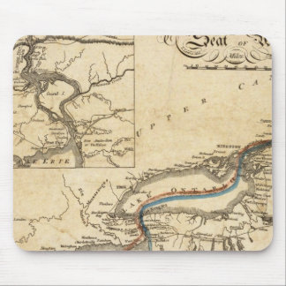 A New Map Of The Seat Of War Mouse Mat