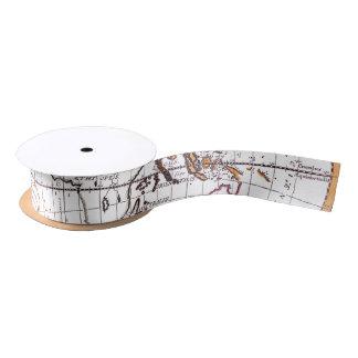 A New Map Of The Terraqueous Globe Ribbon Spool Satin Ribbon