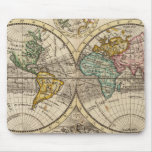 A new map of the whole world with trade winds mouse pads