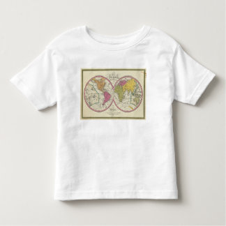 A New Map Of The World on the Globular Projection Toddler T-Shirt