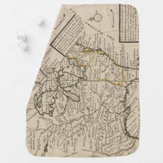 A new map of ye north parts of America Baby Blanket