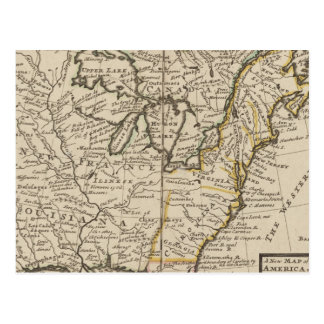 A new map of ye north parts of America Postcard