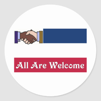 A New Mississippi: All Are Welcome Classic Round Sticker