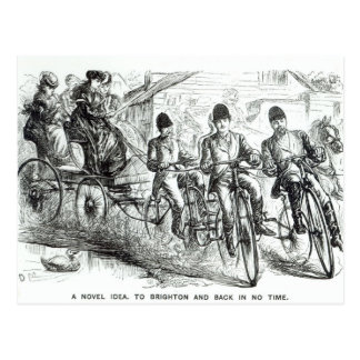 A New way to travel to Brighton, 1864 Postcard
