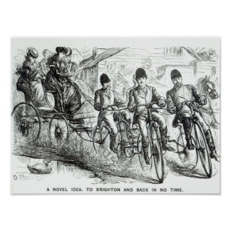 A New way to travel to Brighton, 1864 Poster