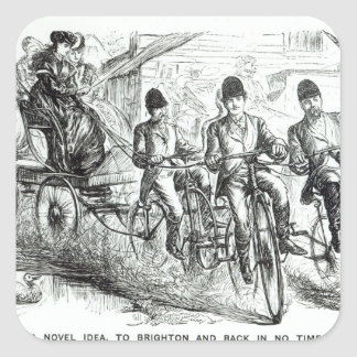 A New way to travel to Brighton, 1864 Square Sticker
