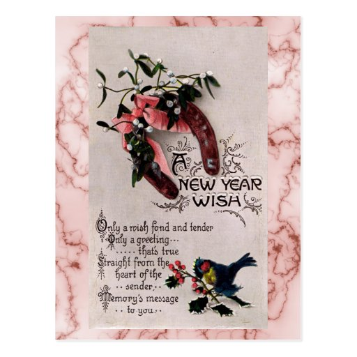 A New Year Wish Postcards