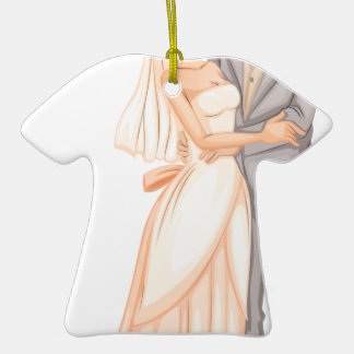 A newly-wed couple ceramic T-Shirt ornament
