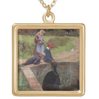 A Nibble, 1914 (oil on panel) Pendants