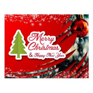 A nice Christmas and New Year Card Postcard