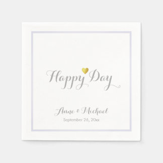 a nice happy-day wedding reception party paper napkins