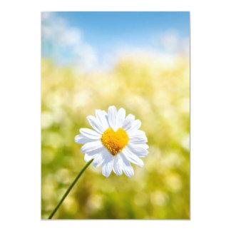 A nice heart shaped flower on A postcard 13 Cm X 18 Cm Invitation Card