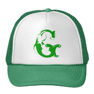 A Nice white and Green Trucker Hat