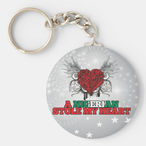 A Nigerian Stole my Heart Key Chains