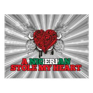 A Nigerian Stole my Heart Postcard