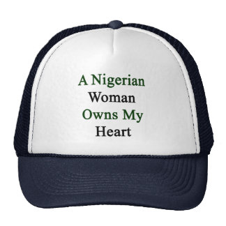 A Nigerian Woman Owns My Heart Mesh Hat