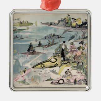 A Night at the Opera in the Year 2000 - 1882 Christmas Ornament