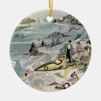 A Night at the Opera in the Year 2000 - 1882 Round Ceramic Decoration