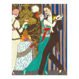 A Night in Decadent Paris Art Deco 11 Cm X 14 Cm Invitation Card