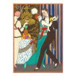 A Night in Decadent Paris Art Deco Print