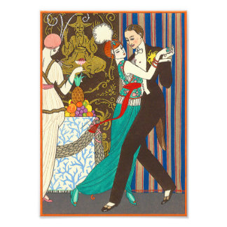 A Night in Decadent Paris Art Deco Print