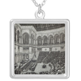 A night sitting in the Italian Chamber of Silver Plated Necklace