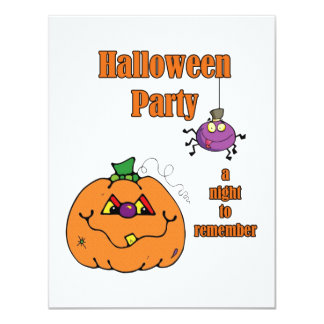 A Night To Remember Halloween Party Invitations
