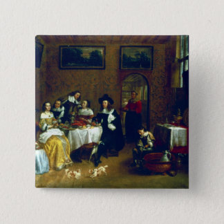 A Noble Family Dining 15 Cm Square Badge